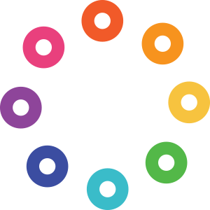 color light therapy icon dots