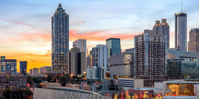 tall buildings in the city of Atlanta