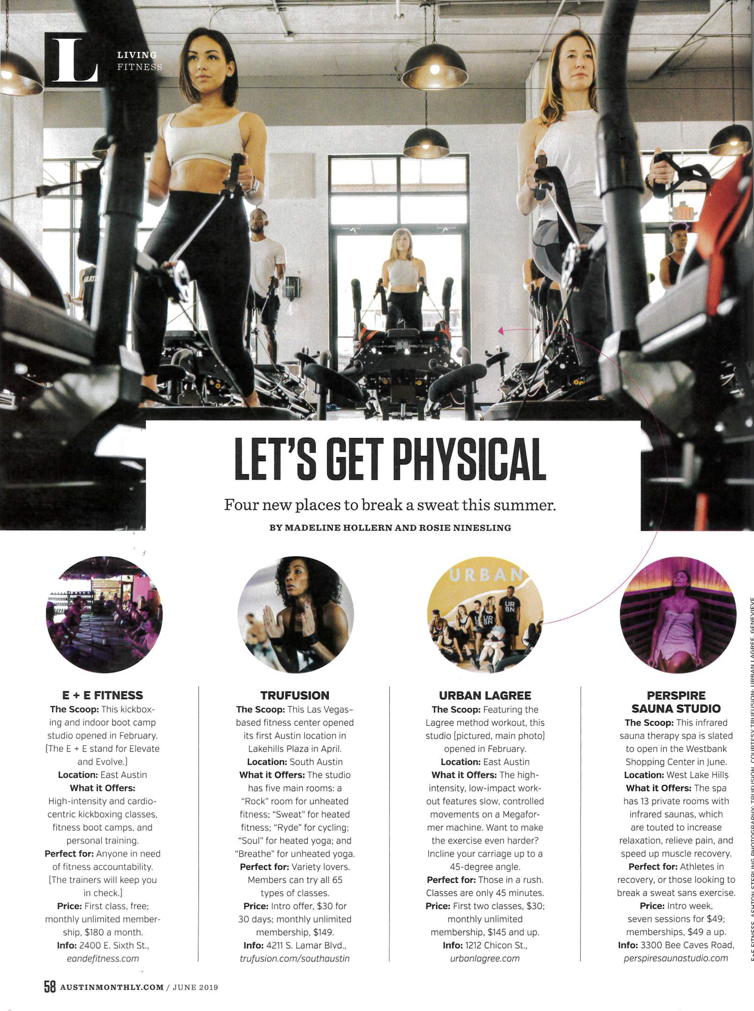 article - 4 new places to break a swear featuring Perspire Sauna Studios