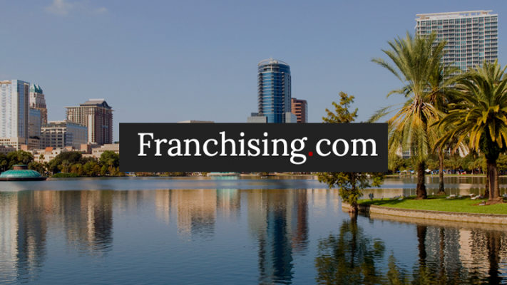 Franching.com Logo on image of Orlando Florida where Perspire Sauna Studio Plans to open