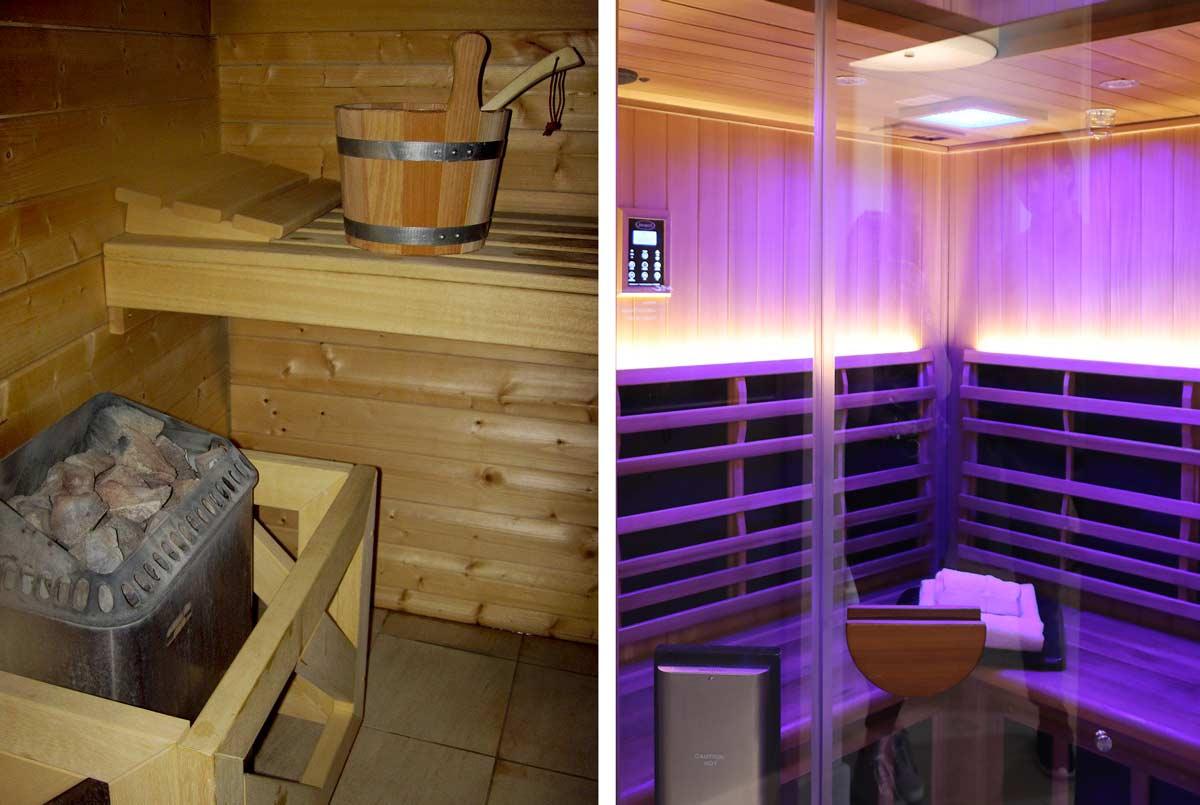 sauna steam room vs infrared sauna